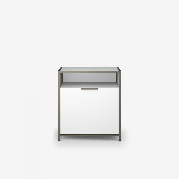 NIGHT CHEST RIGHT-HINGED DOOR WHITE LACQUER Ligne Roset