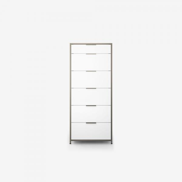 CHEST OF DRAWERS 6 DRAWERS WHITE LACQUER Ligne Roset
