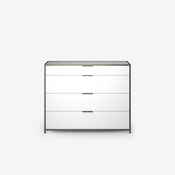 SIDEBOARD UNIT 4 DRAWERS WHITE LACQUER Ligne Roset