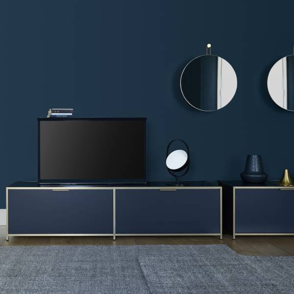 TV CABINET 1 DRAWER + 1 FLAP DOOR ARGILE LACQUER Ligne Roset