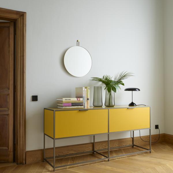 CONSOLE TABLE 2 FLAP DOORS WHITE LACQUER Ligne Roset