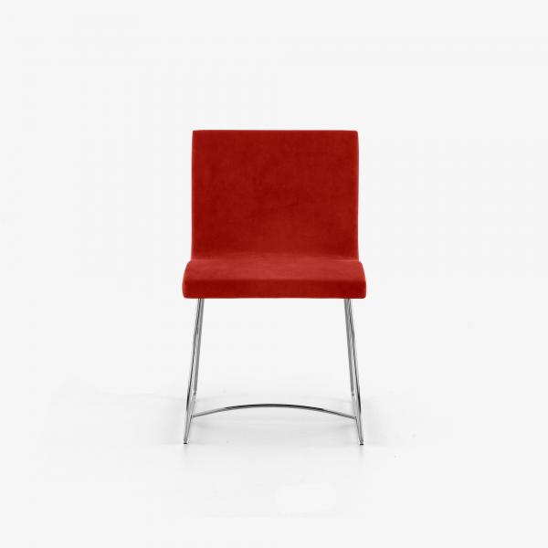DINING CHAIR CHROMED SLEIGH FEET Ligne Roset