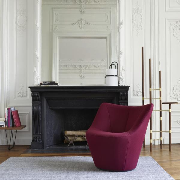 SWIVELLING ARMCHAIR LOW BACK Ligne Roset