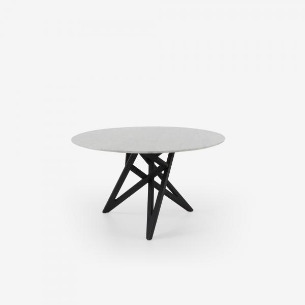 DINING TABLE LEGS IN BLACK STAINED OAK MARBLE TOP Ligne Roset