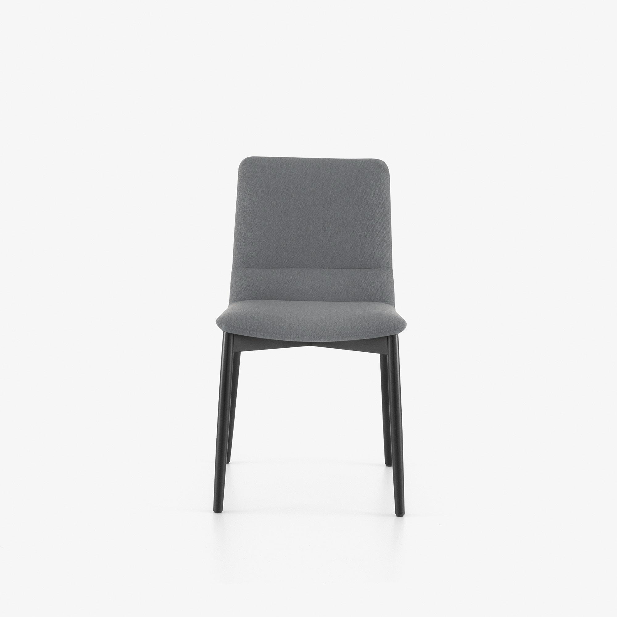 DINING CHAIR BLACK STAINED BEECH BASE Ligne Roset