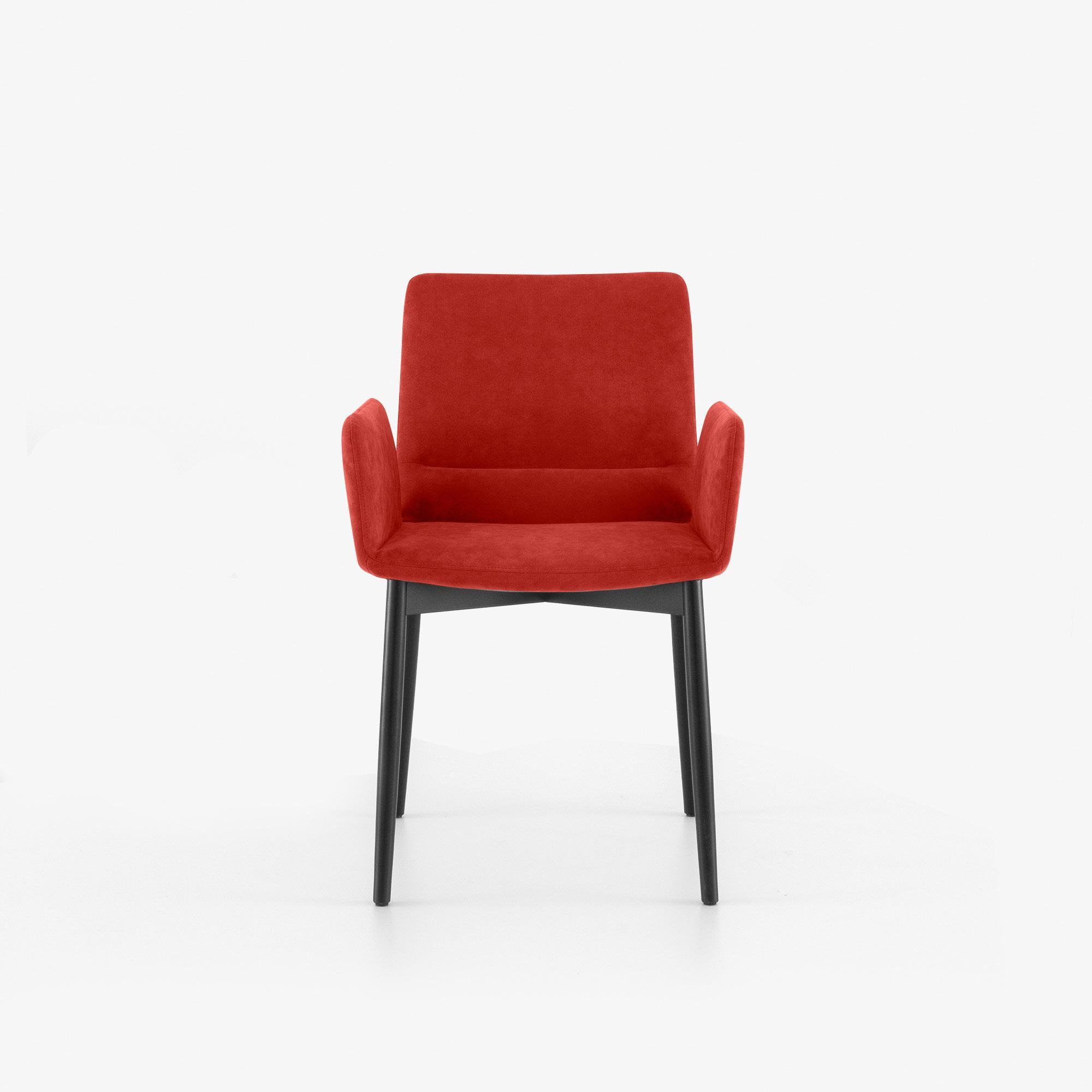 CHAIR WITH ARMS BLACK STAINED BEECH BASE Ligne Roset