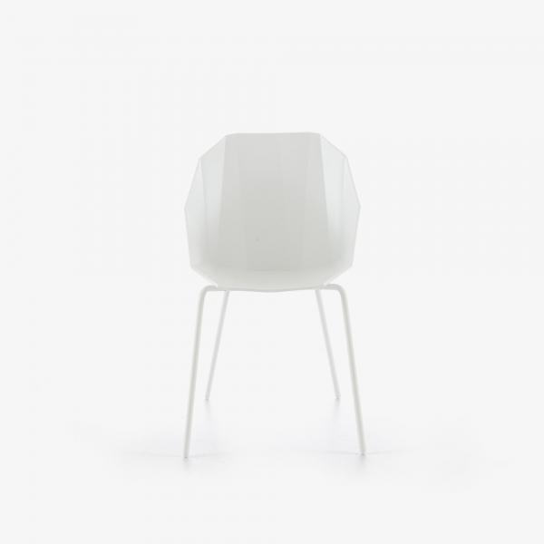CHAISE / BRIDGE BLANC PIETEMENT LAQUE BLANC Ligne Roset
