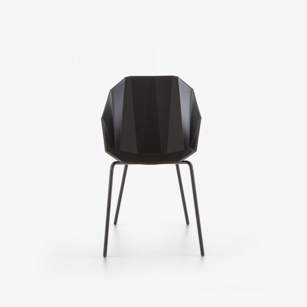 CHAIR/BRIDGE BLACK BLACK LACQUERED BASE Ligne Roset