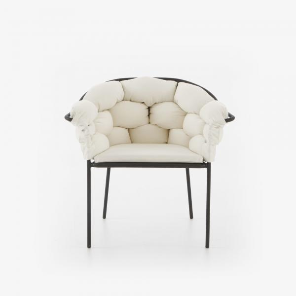 CHAIR WITH ARMS ECRU / CHARCOAL STRUCTURE Ligne Roset