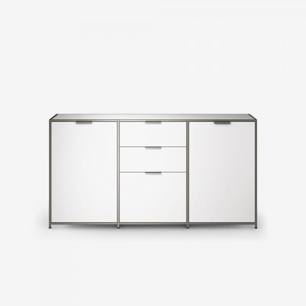 SIDEBOARD 2 DOORS + 3 DRAWERS WHITE LACQUER Ligne Roset