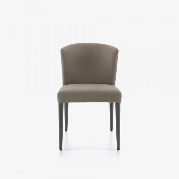 SET OF 2 DINING CHAIRS - CIRCA FABRIC-LIGHT GREY ANTHRACITE-STAINED BEECH LEGS Ligne Roset