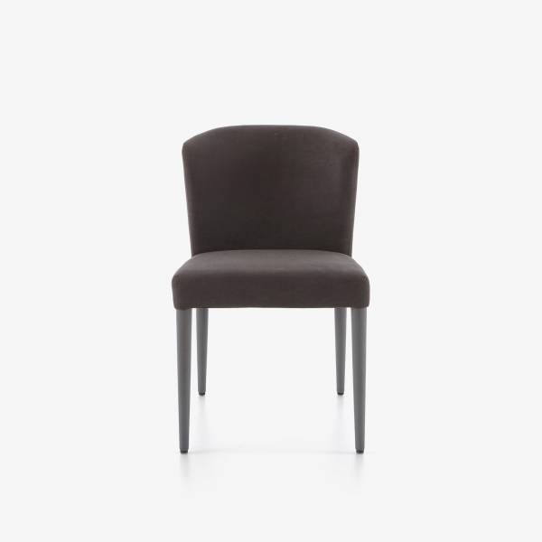 SET OF 2 DINING CHAIRS - CIRCA FABRIC-ANTHRACITE ANTHRACITE-STAINED BEECH LEGS Ligne Roset