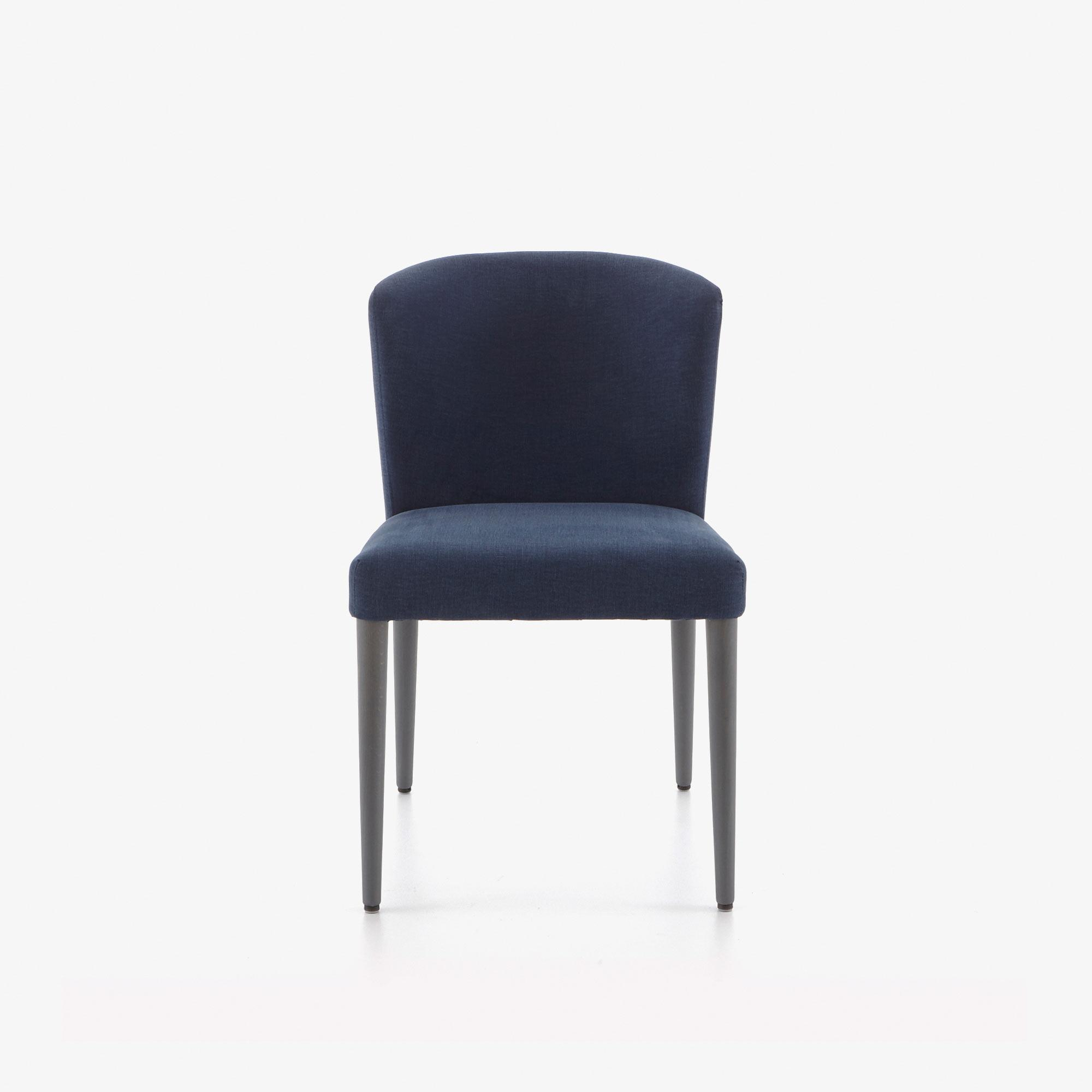 SET OF 2 DINING CHAIRS - CIRCA FABRIC-BLEU NUIT ANTHRACITE-STAINED BEECH LEGS Ligne Roset