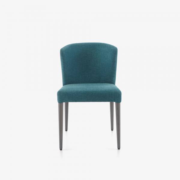 SET OF 2 DINING CHAIRS - CIRCA FABRIC-BLEU CANARD ANTHRACITE-STAINED BEECH LEGS Ligne Roset