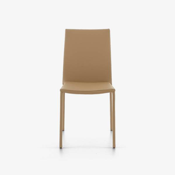 DINING CHAIR BEIGE LEATHER Ligne Roset
