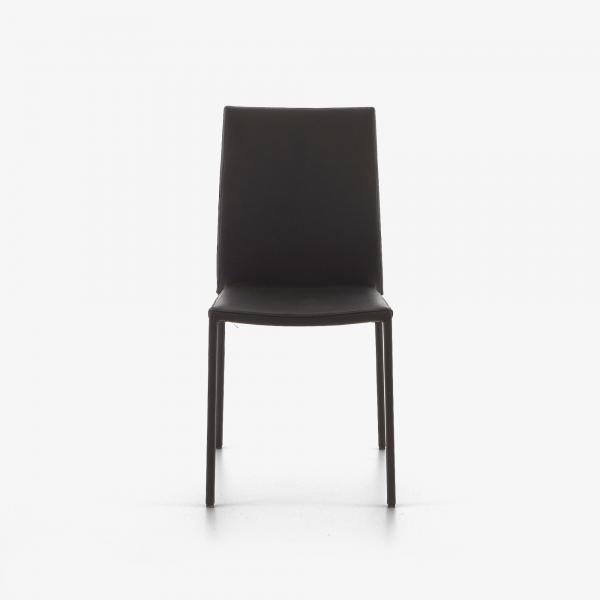 DINING CHAIR BLACK LEATHER Ligne Roset
