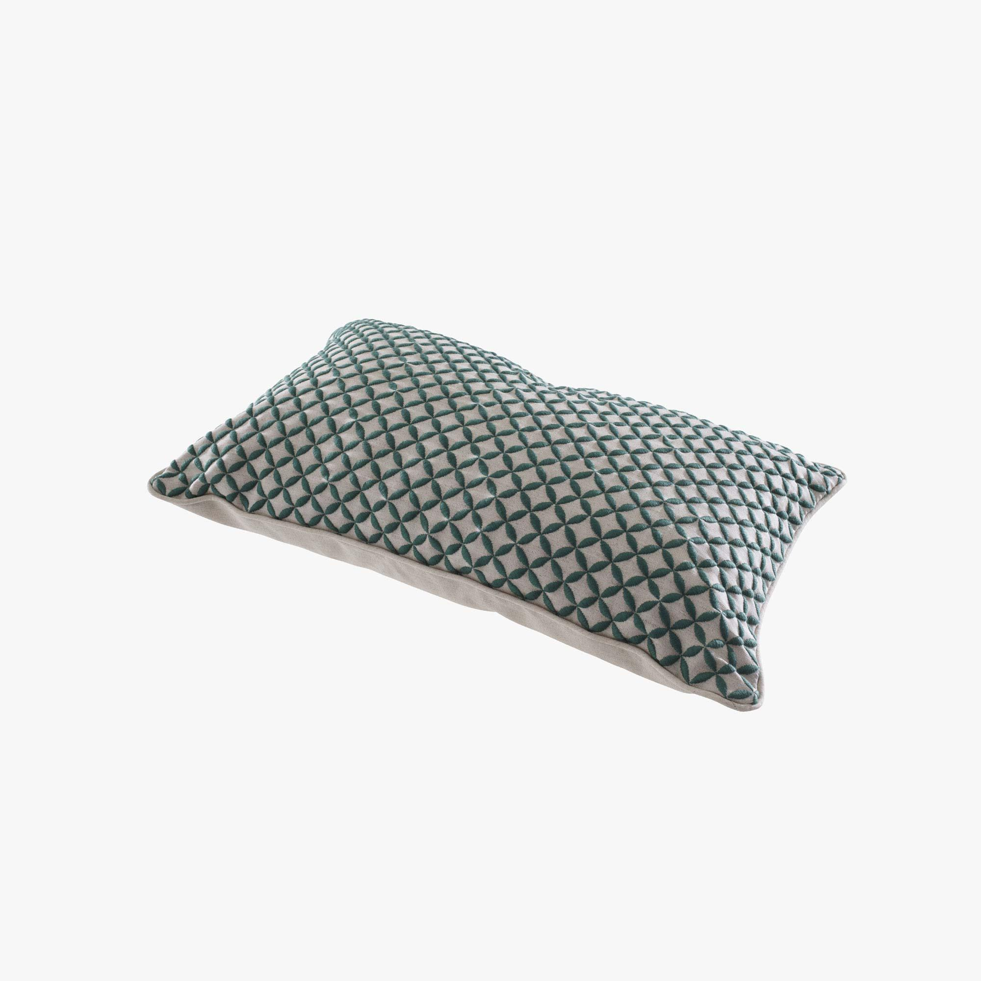 CUSHION GREEN EMBROIDERY Ligne Roset