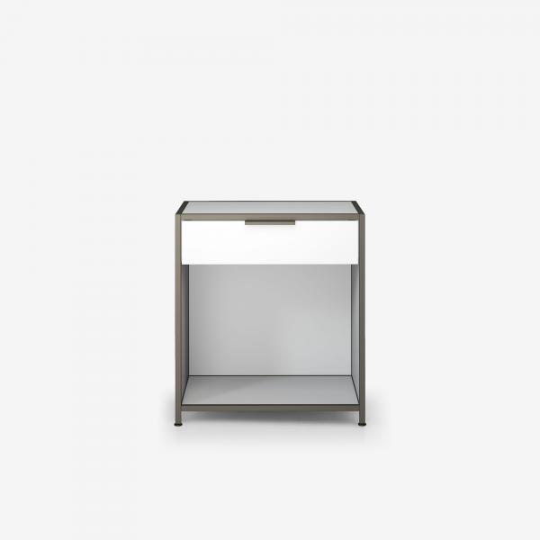 BEDSIDE TABLE 1 DRAWER WHITE LACQUER Ligne Roset