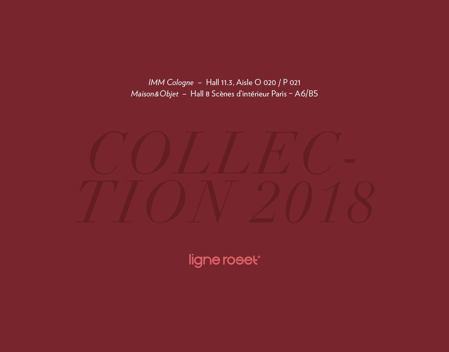 IMM Cologne and Maison&Objet 2018 Ligne Roset
