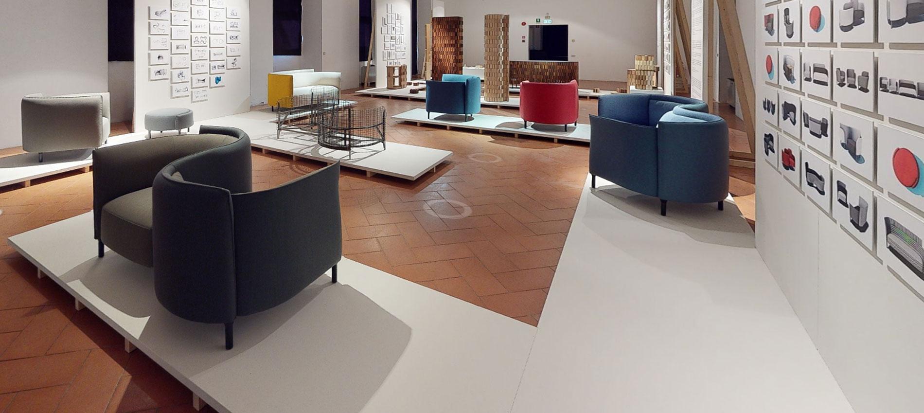 Hemicycle exhibition in Milan Ligne Roset