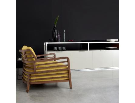 SIDEBOARD 2 DOORS BRILLIANT STEEL PROFILE GLOSS WHITE LACQUER Ligne Roset