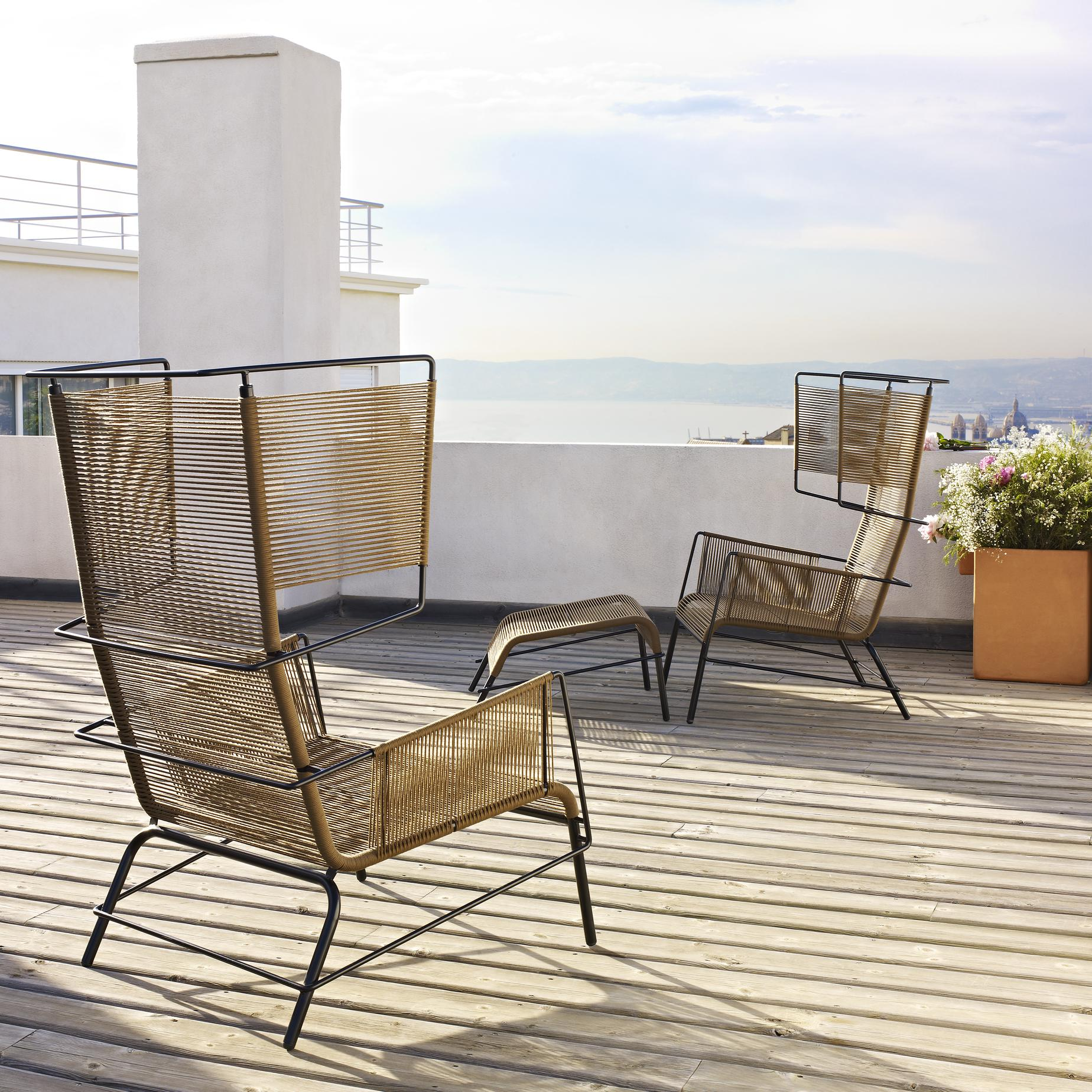 ARMCHAIR BROWN INDOOR / OUTDOOR Ligne Roset