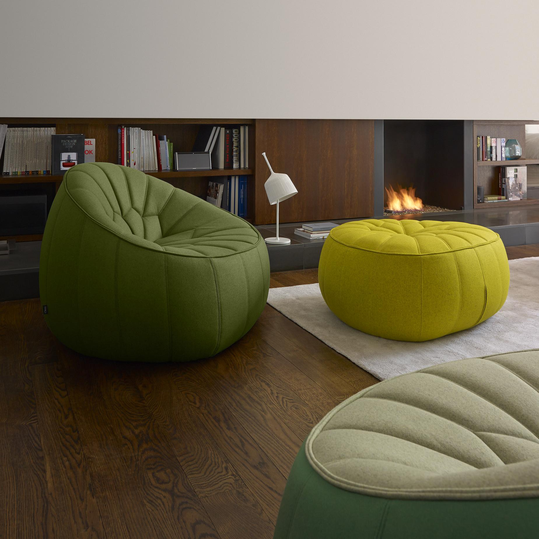 SWIVELLING ARMCHAIR COMPLETE ELEMENT  Ligne Roset