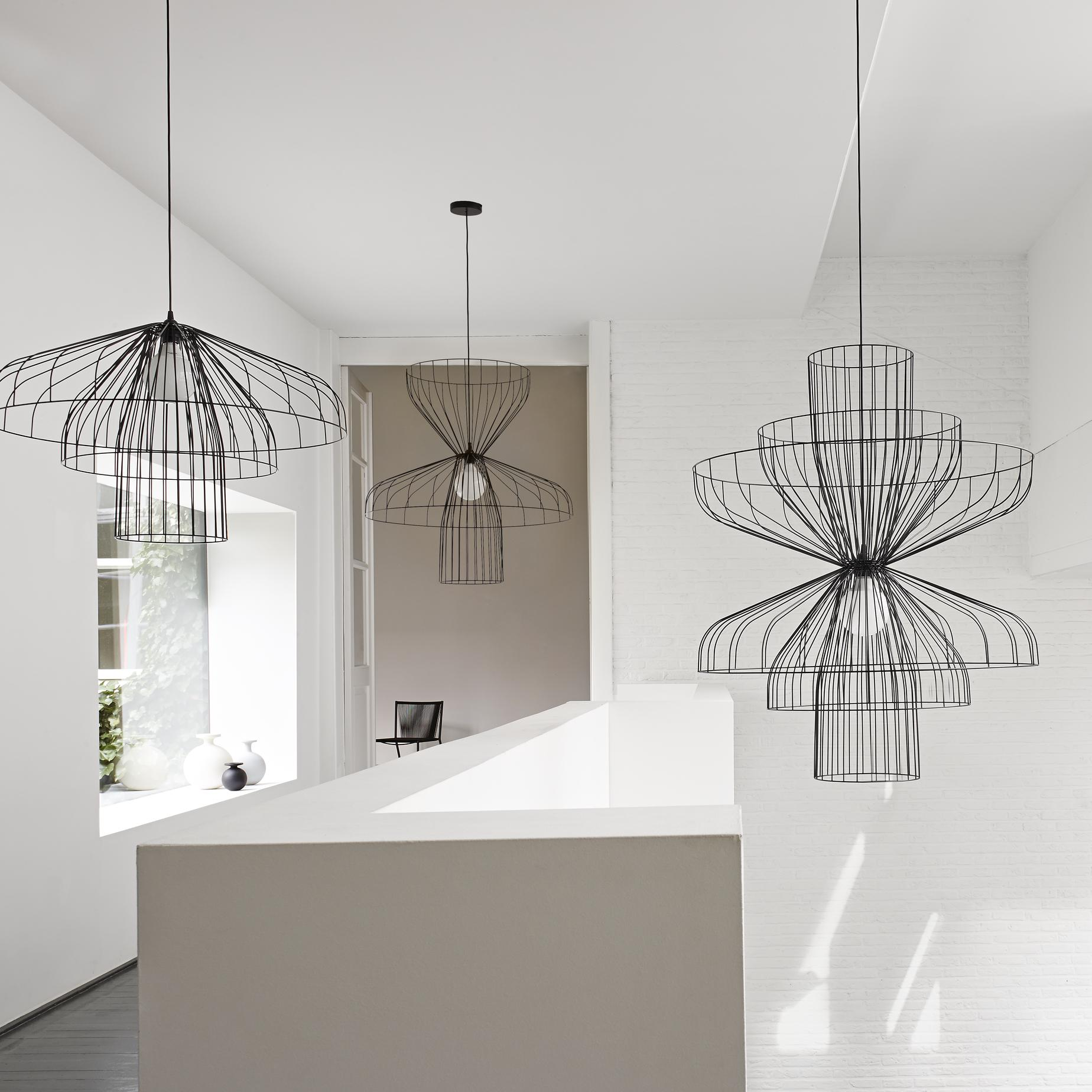 parachute ceiling lighting from designer nathan yong. Black Bedroom Furniture Sets. Home Design Ideas