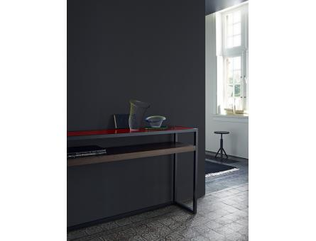 CONSOLE TABLE BRILLIANT STEEL PROFILE GLOSS WHITE LACQUER Ligne Roset