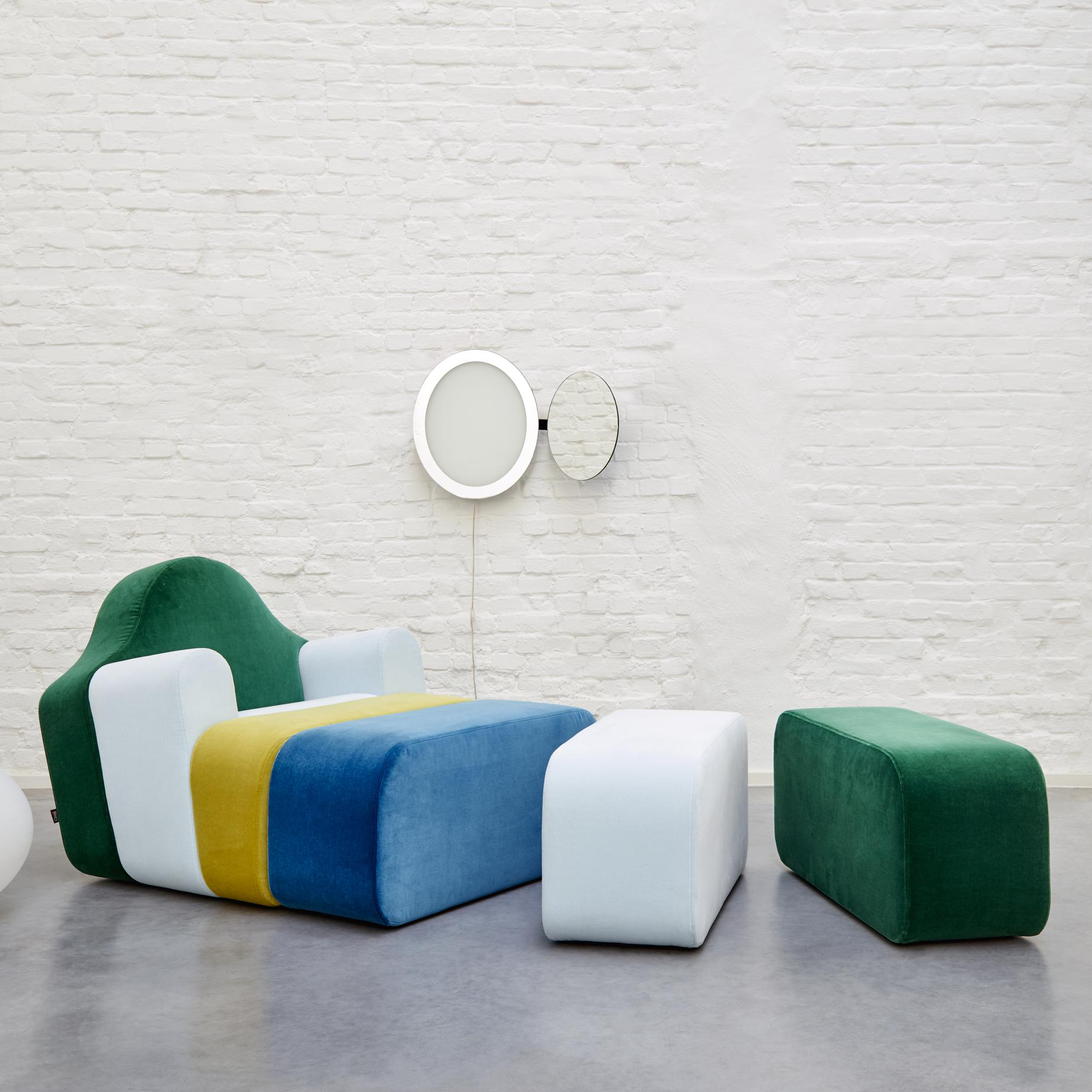 slice armchairs from designer pierre charpin ligne roset official site. Black Bedroom Furniture Sets. Home Design Ideas