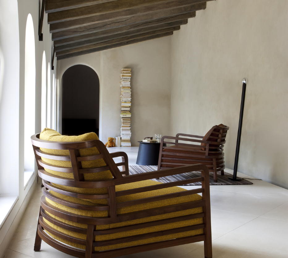 flax armchairs from designer philippe nigro ligne. Black Bedroom Furniture Sets. Home Design Ideas