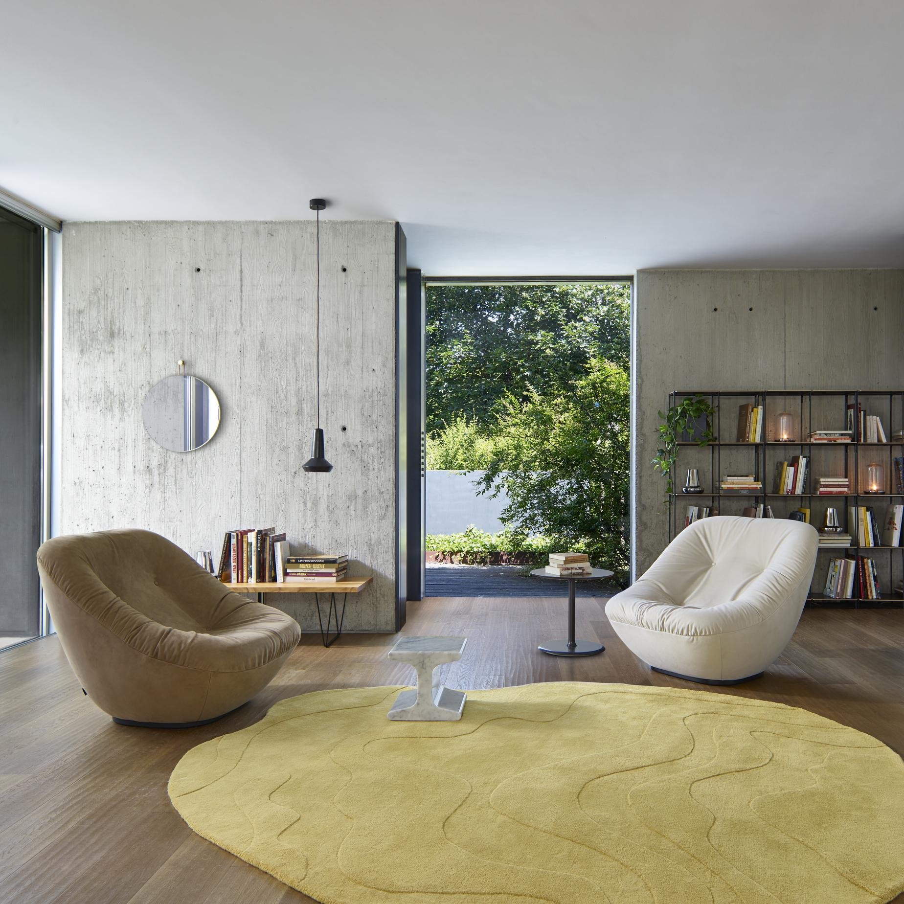 bonnie armchairs from designer pierre paulin ligne roset official site