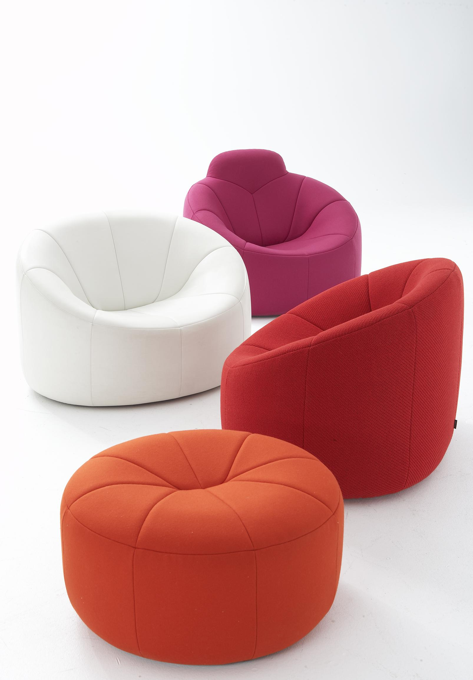 pumpkin armchairs from designer pierre paulin ligne roset official site. Black Bedroom Furniture Sets. Home Design Ideas