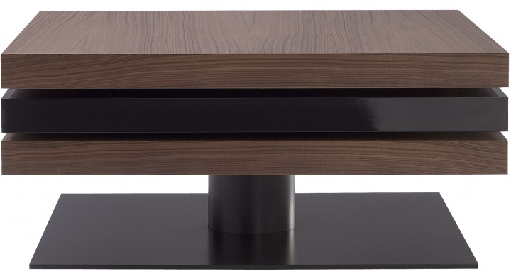 Ligne roset table basse table basse en noyer en verre en for Ligne roset yoyo